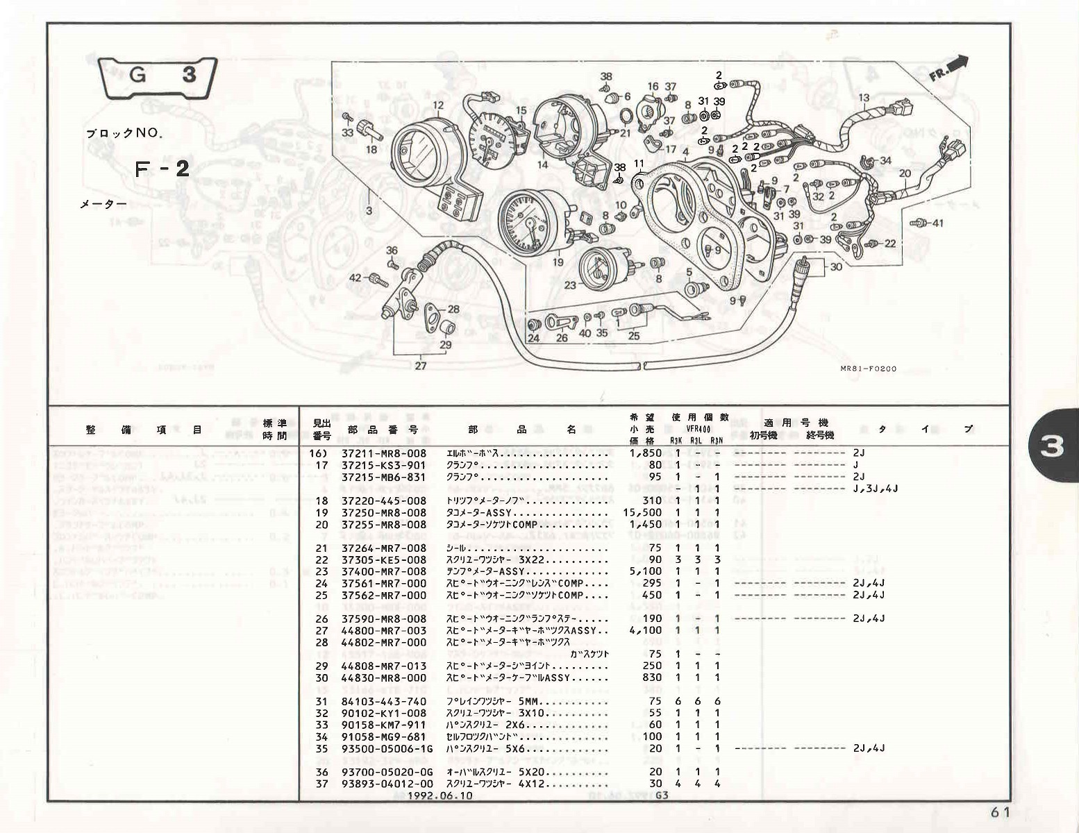 Type vs no in honda parts catalogues unless my bike has had that light removed then i suppose it must be a vfr400riii n iii 3j the wiring sub harness shown as no 13 in that diagram is cheapraybanclubmaster Image collections