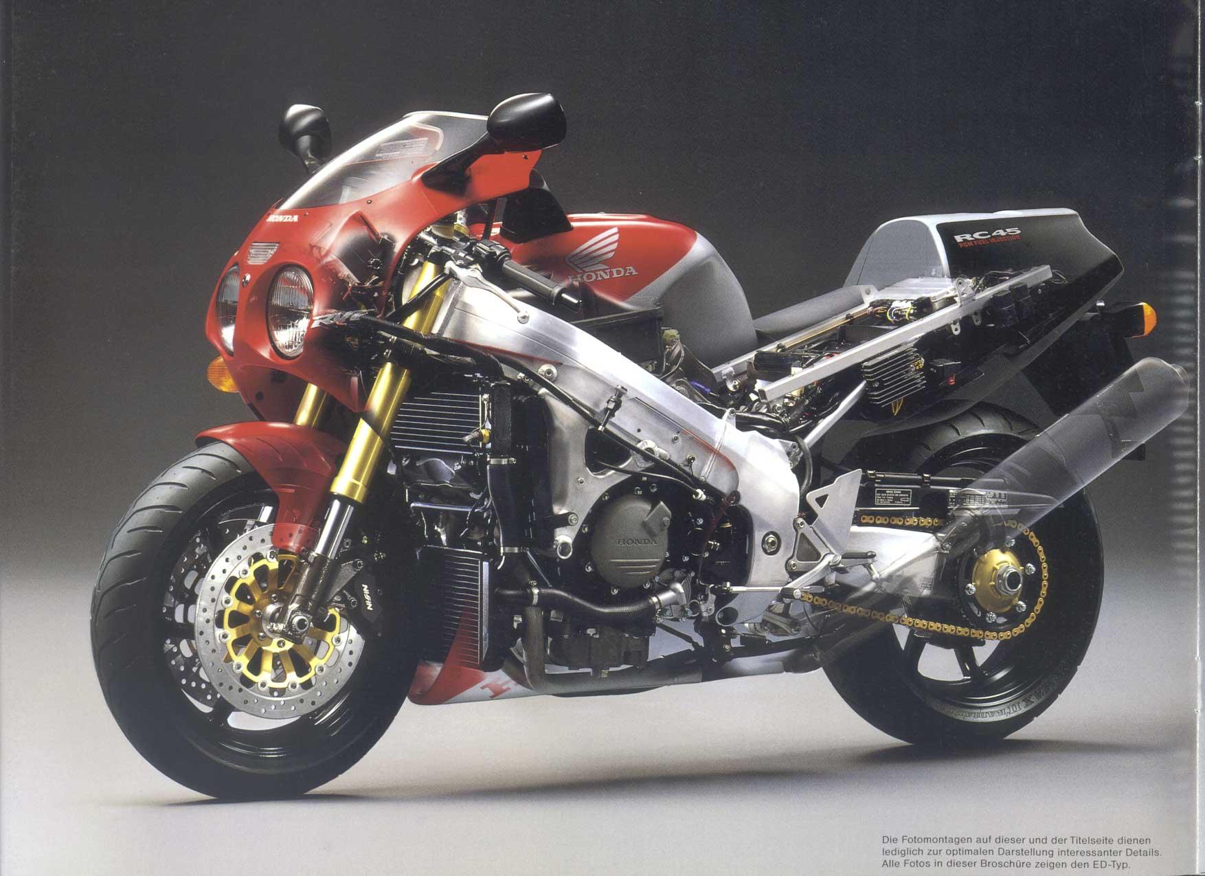Honda RVF750 Brochures